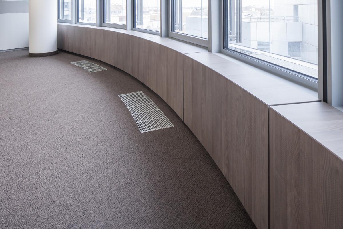 Objekteinrichtung Referenz | Parapetverkleidungen Raiffeisen Konzernzentrale RHW.2
