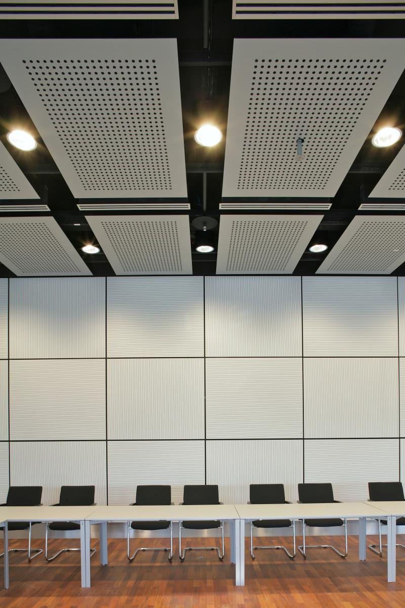 Referenzprojekt Objekteinrichtung | Wandverkleidung, Deckenverkleidung Techgate Tower Vienna