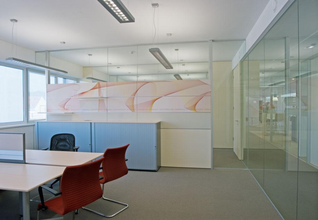 Bankeinrichtung Referenz | Glastrennwand Raiffeisenbank Region St. Pölten